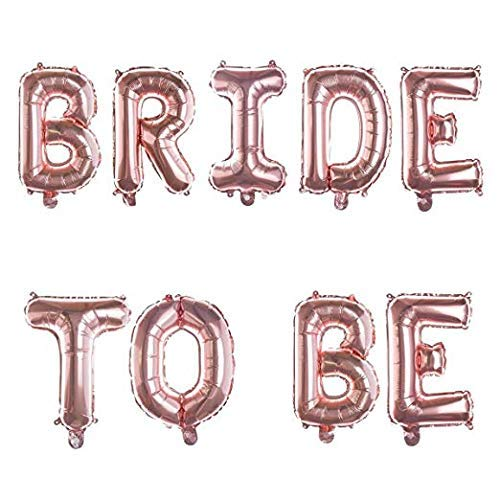 """Bride to Be"" Foil Balloons - Rose Gold"