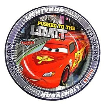 Disney Cars McQueen Paper Plates - Pack of 30