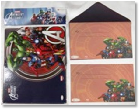 Marvel Avengers Invitation card with Envelope - 30/pack