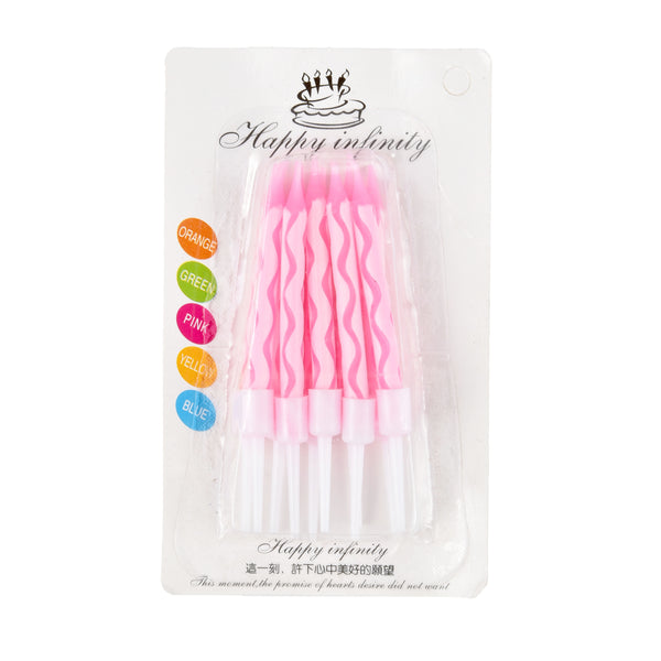Spiral Cake Candles - Pack of 10