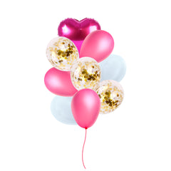 Pink & Gold Balloon Bouquet -  9/pack