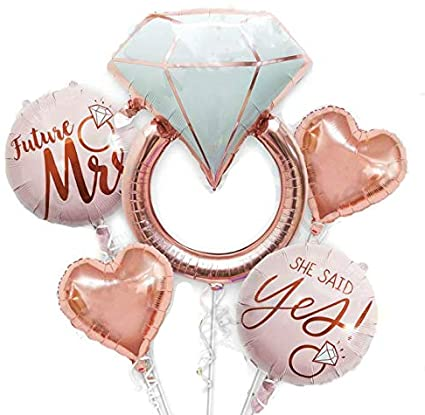 Engagement Proposal Balloon Bouquet – Pk / 5