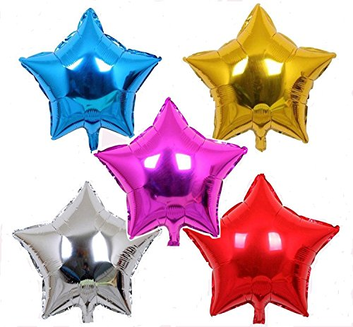 Multi color Star Shaped Foil Balloon