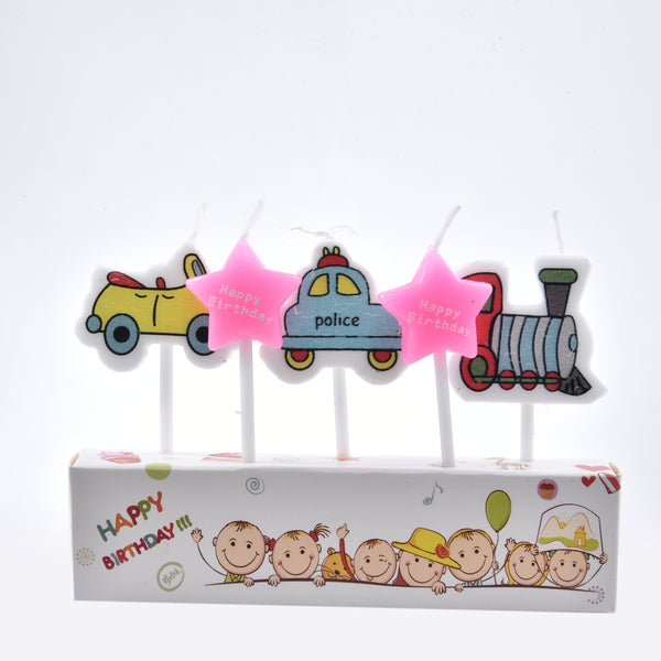 Vehicles Theme Candles