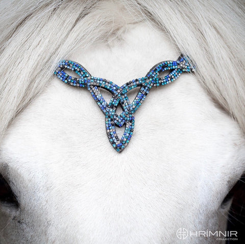 Hrimnir Headstall with blue stones