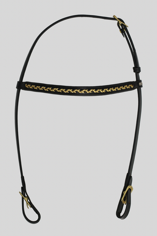 Bridle with GOLD detail