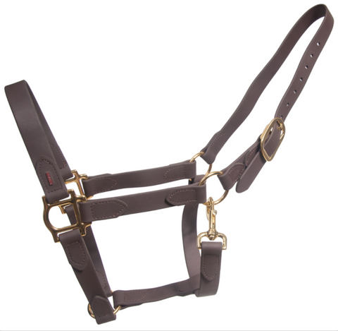 SuperStrap Rubber Halter - Brown