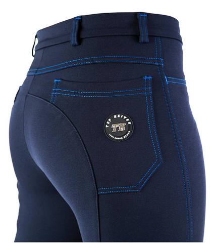 FALL SPECIAL! Top Reiter Women's Riding Pants with pockets - Navy