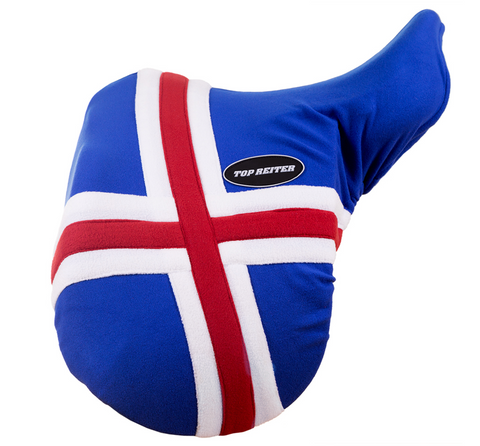 Iceland Flag saddle cover