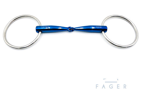 Fagers Titanium Single jointed Bar Relief Loose Rings bit -LILLY