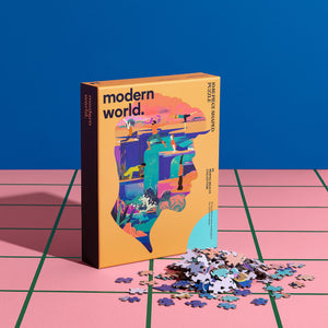Mindful - Shaped Mental Health Jigsaw Puzzle - modernworldco