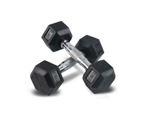 Premium Rubber Hex Dumbbell