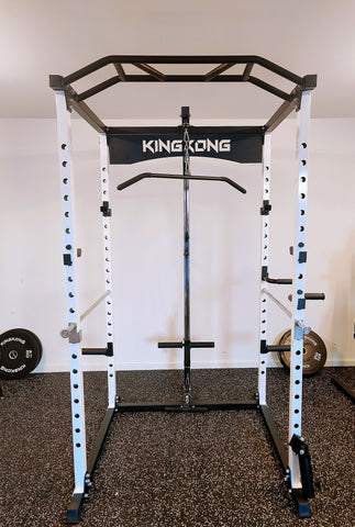 KINGKONG POWER RACK/SQUATS CAGE 2.0 - Blue & White Series