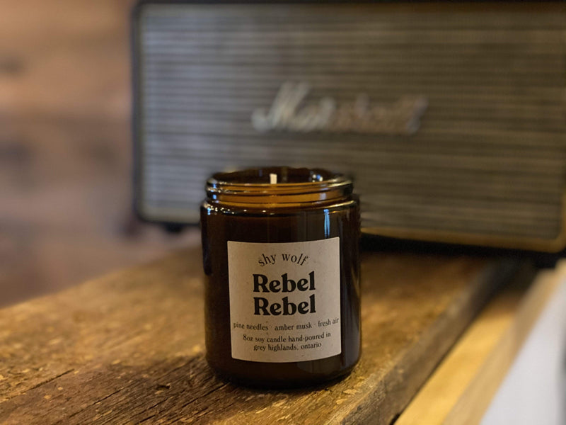 Shy Wolf Candle Rebel Rebel