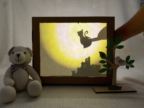 Shadow Puppet Theatre at home - quarantine activity for kids