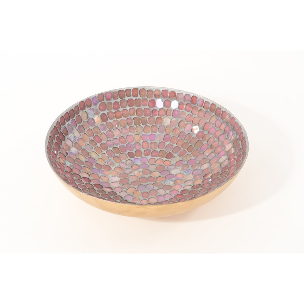 Pink Mosaic Glass Bowl