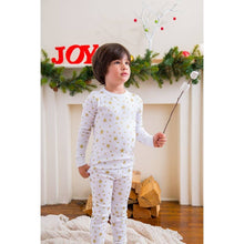 Load image into Gallery viewer, White Stars Long Sleeve Pajamas