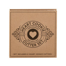 Load image into Gallery viewer, Heart - Carboard Box Cookie Cutters Set