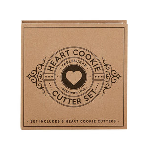 Heart - Carboard Box Cookie Cutters Set