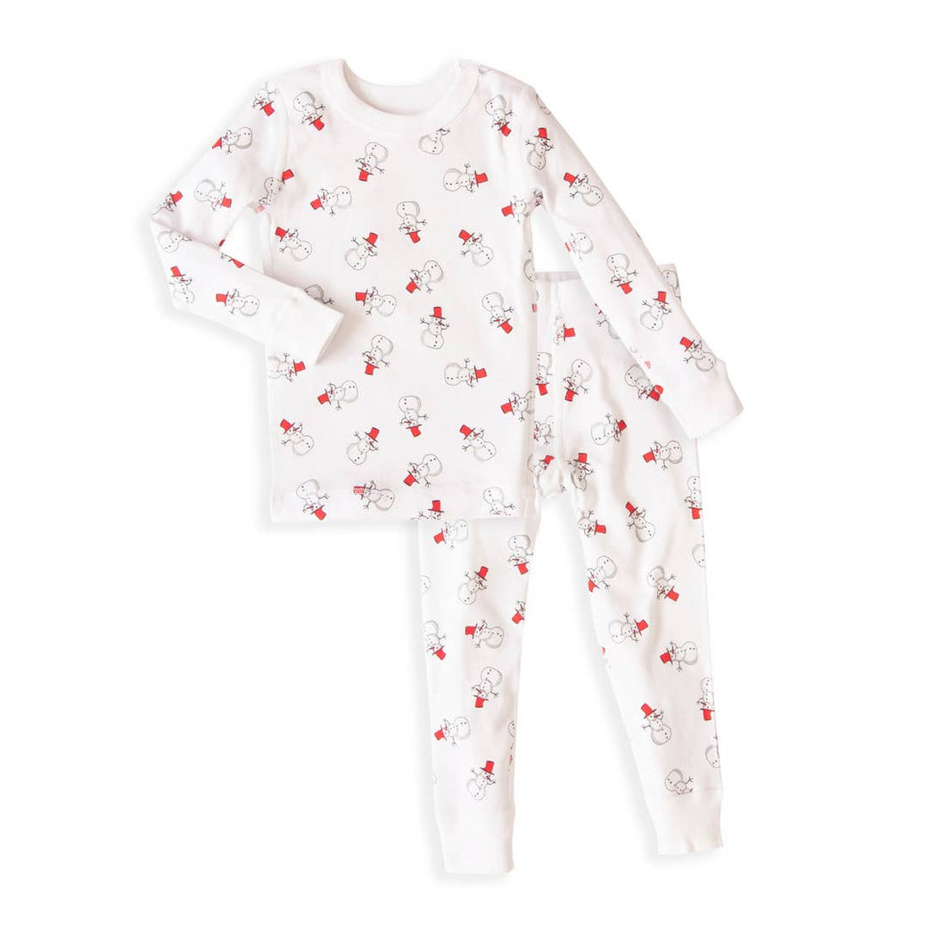 Snowmen Long Sleeve Pajamas
