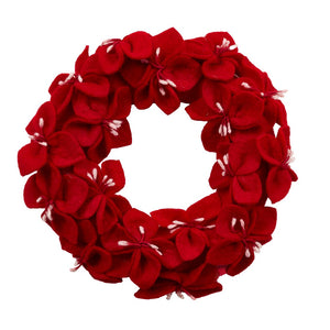 Handmade Hand Felted Wool Wreath - Multiple Colors