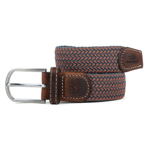 Red and Grey Two Toned Woven Elastic Belt