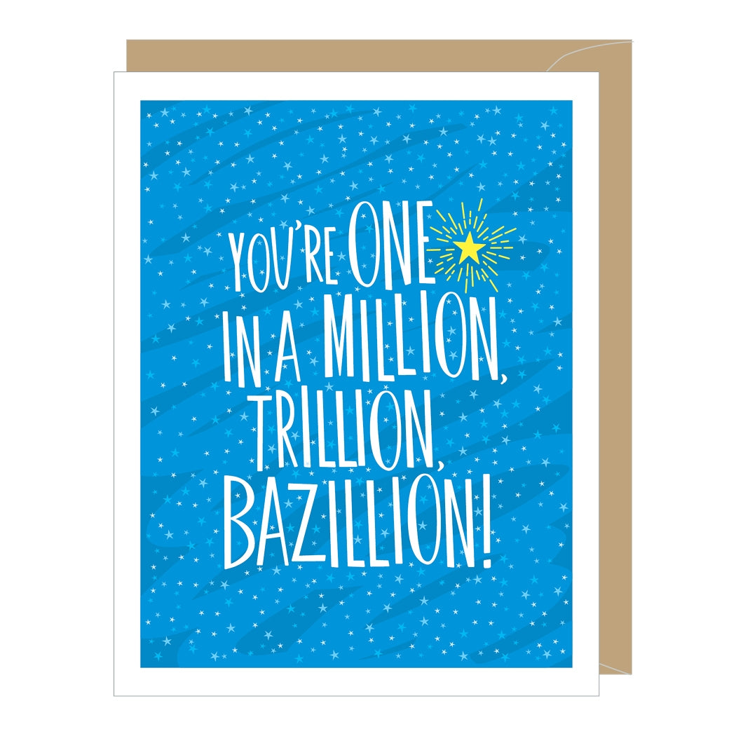 One in a Million Thank You Card
