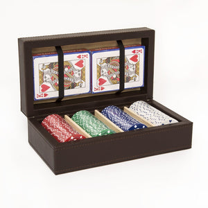 Chocolate Brown Poker Set