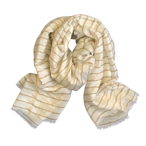 Striped Wool Scarf