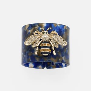 Tortoise Shell Stripey Bee Napkin Rings