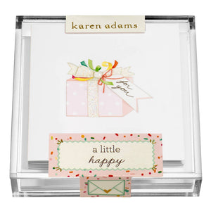 Present Enclosure Cards in Acrylic Box