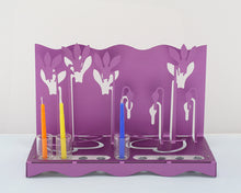Load image into Gallery viewer, Cyclamens Menorah