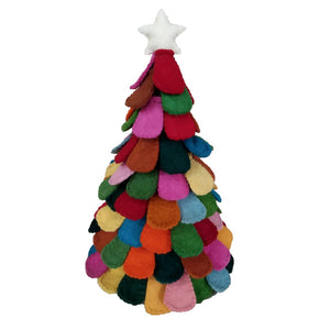 Handmade Multi Color Scallop Table Top Christmas Tree