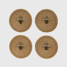 Load image into Gallery viewer, Stripey Bee Coasters - Set of 4