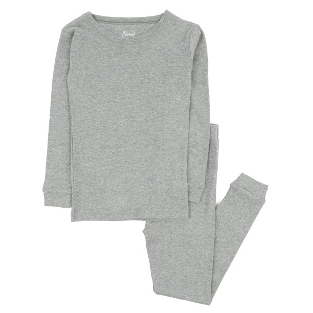 Kid's Light Gray Cotton Pajamas