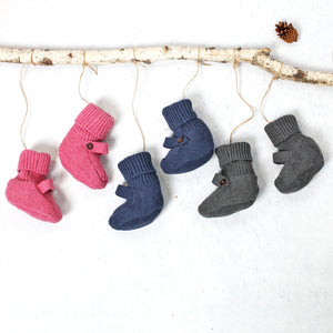Heather Knit Baby Booties
