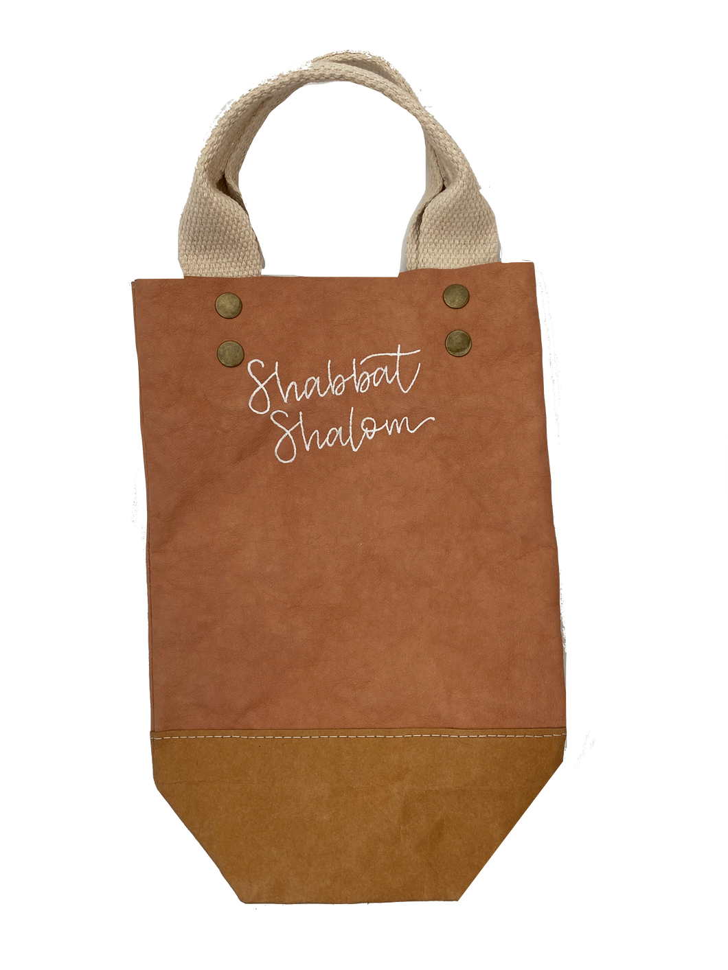 Shabbat Shalom Wine Bag