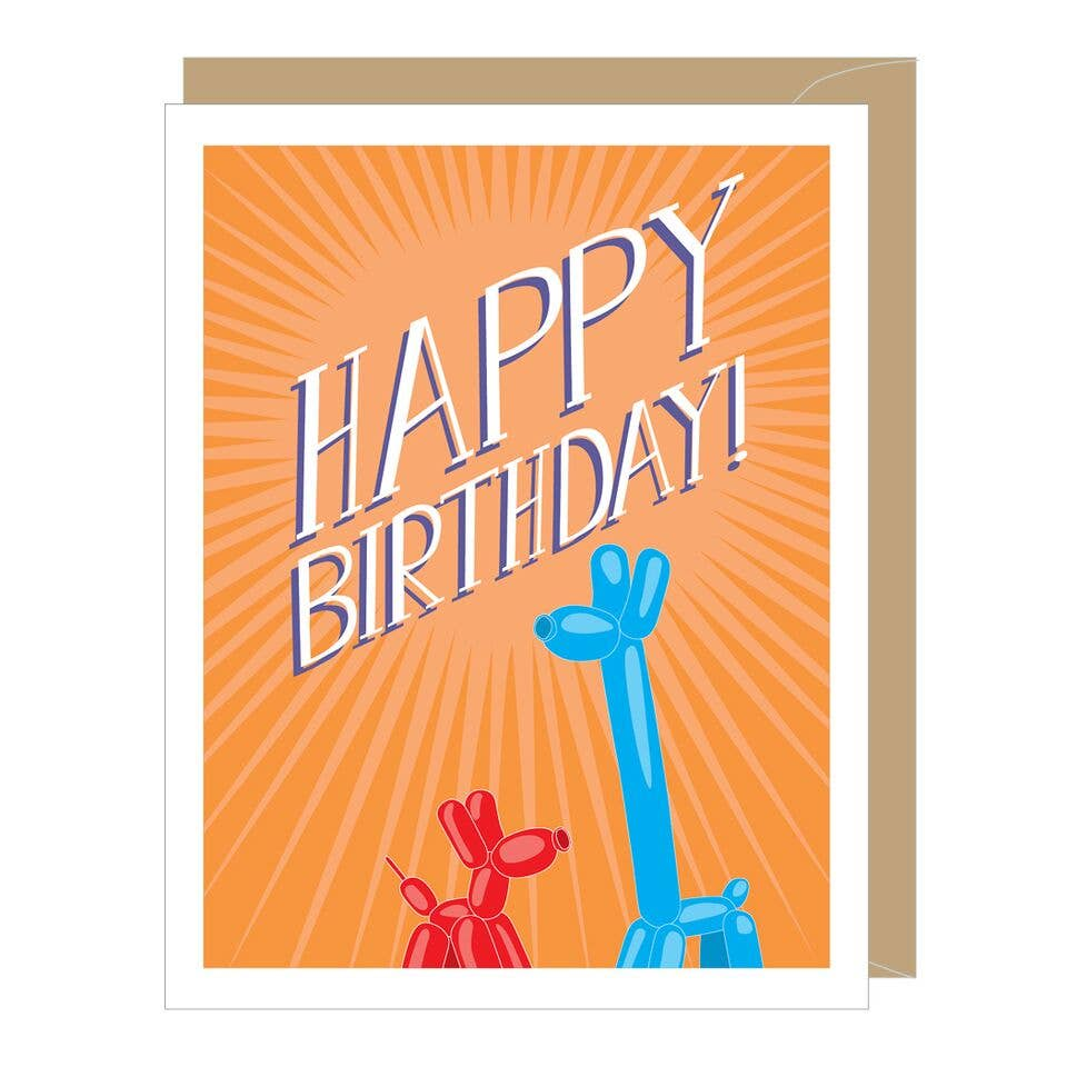 Party Animals Greeted Birthday Card