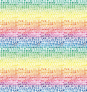 Rainbow Dots Wrapping Paper
