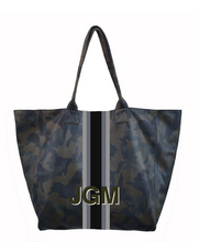 Load image into Gallery viewer, Hand Painted Leather Tote