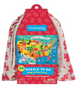 USA Map Puzzle To Go