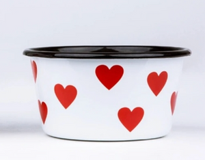 Enamel Hearts Bowl