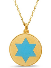 Load image into Gallery viewer, Colorful Disc Star of David Necklace