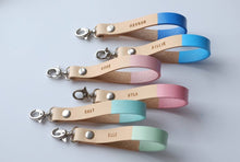 Load image into Gallery viewer, Personalized Leather Keychain