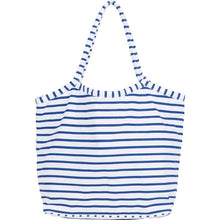 Load image into Gallery viewer, Bateau Stripe Navy Bucket Bag