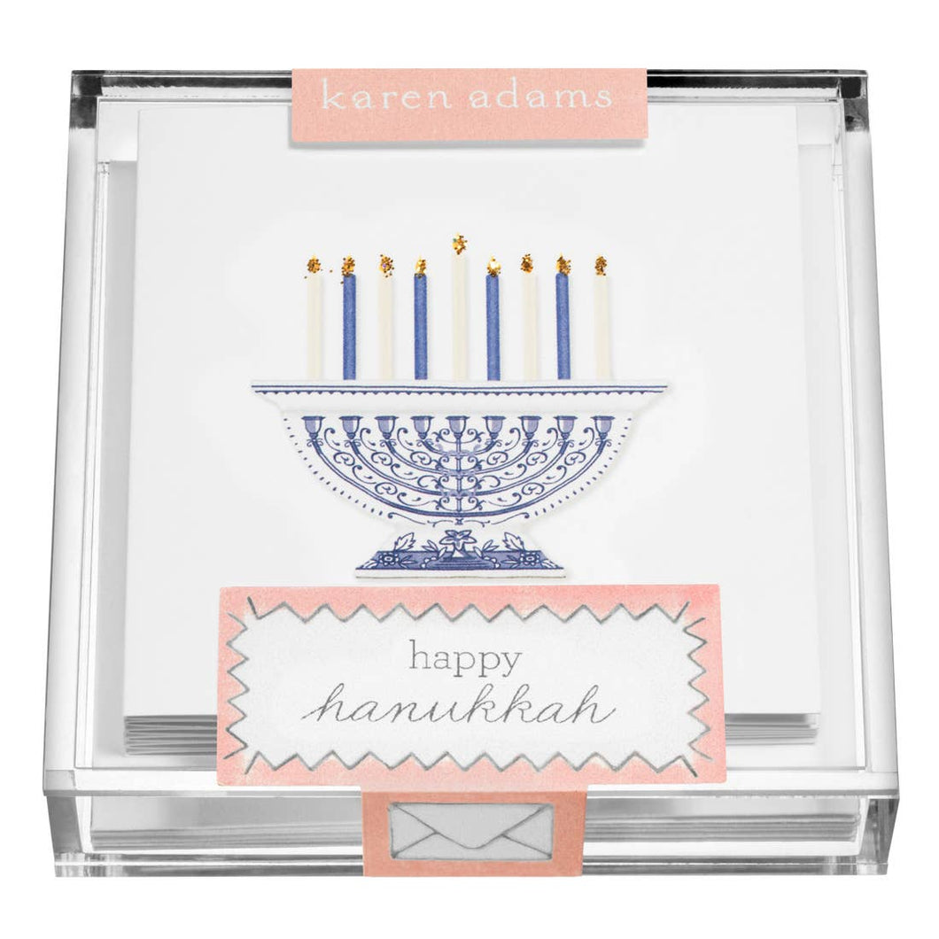 Menorah Enclosure Cards in Acrylic Box