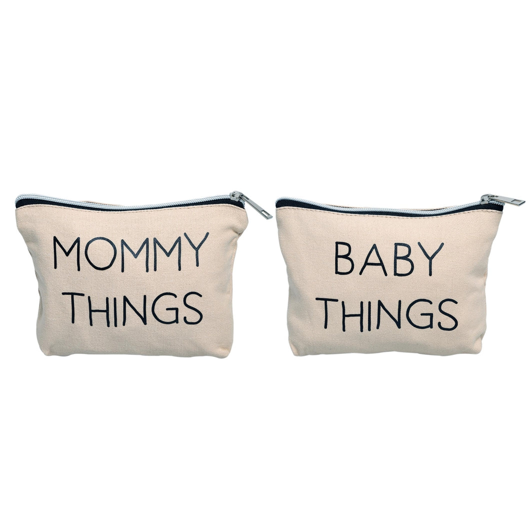 Mommy and Baby Travel Pouches