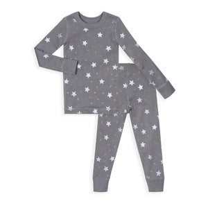 Grey Stars Long Sleeve Pajamas