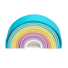 Load image into Gallery viewer, Pastel Rainbow Stacking Toy - 2 Sizes