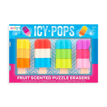 Load image into Gallery viewer, Icy Pops Scented Puzzle Erasers - Set of 4